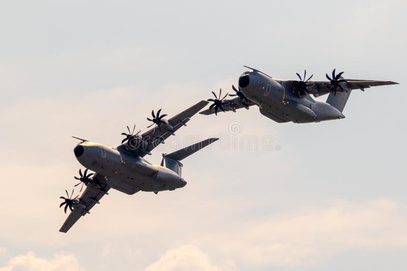 Tysk nivå för transport för flygvapenLuftwaffe flygbuss A400M militär royaltyfri fotografi