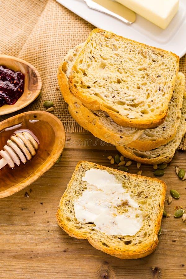 tysk panoramasourdough för bröd arkivbild