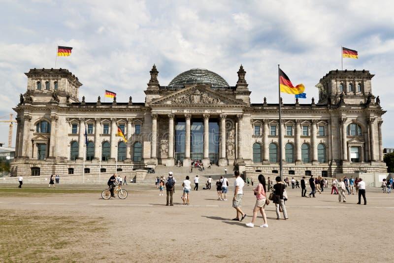 tysk parlament royaltyfria foton