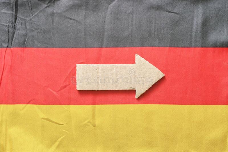 Tysk pil royaltyfri bild