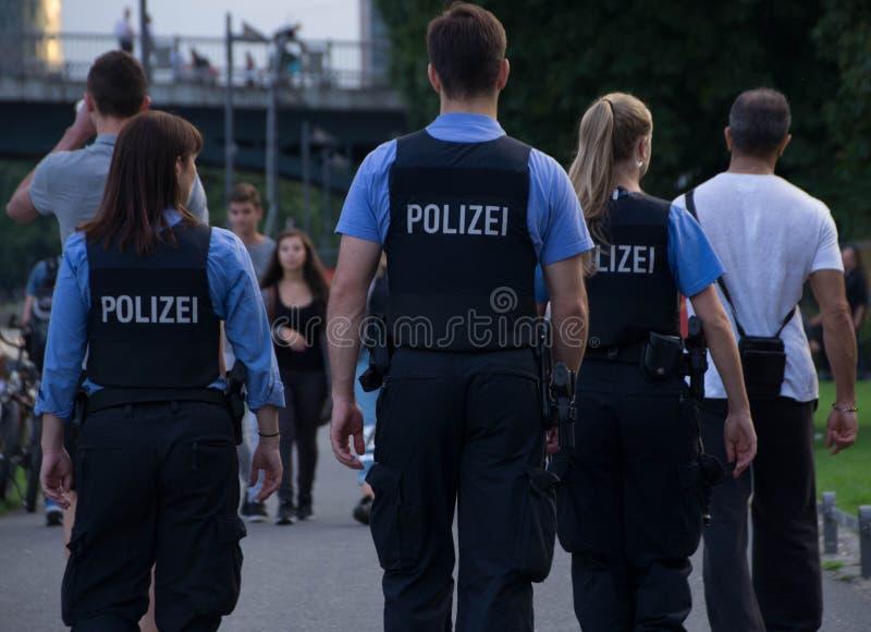 tysk polis royaltyfria foton