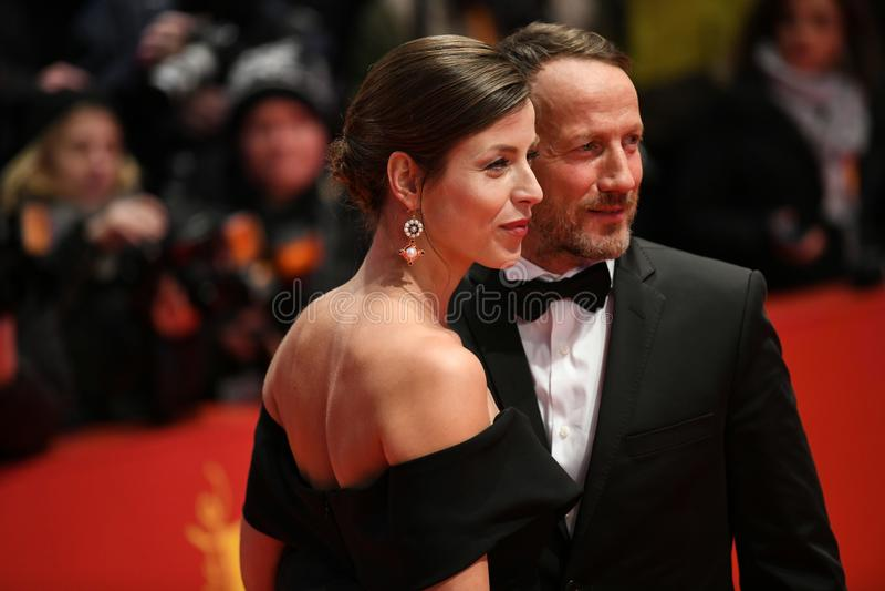 Tysk skådespelare Wotan Wilke Moehring under Berlinale 2018 royaltyfria foton