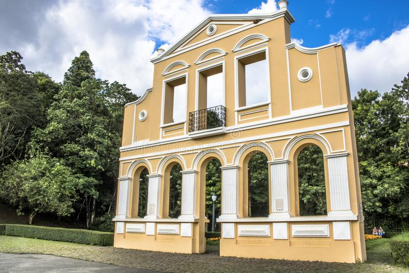 Tysk skog i Curitiba royaltyfri bild