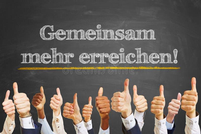 Tysk slogan arkivbild
