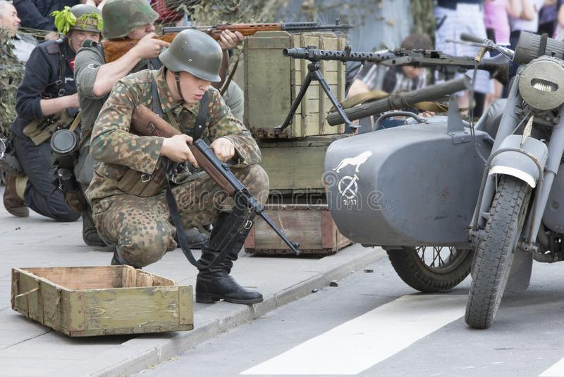 tysk soldat arkivbilder