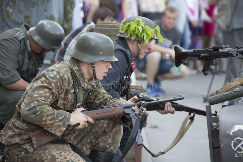 tysk soldat royaltyfria foton