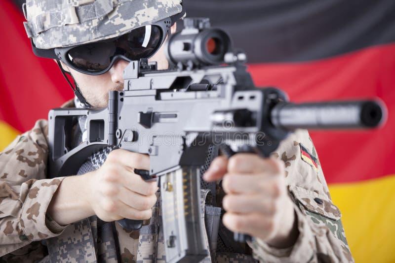 tysk soldat royaltyfri bild