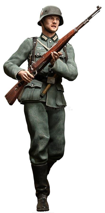 tysk soldat royaltyfri foto