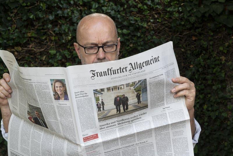 Tysk tidning för Frankfurter Allgemeine arkivfoton