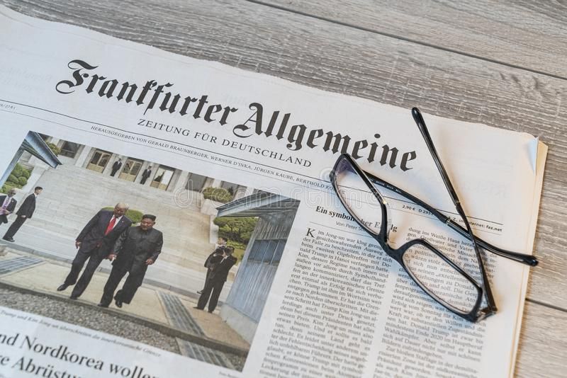 Tysk tidning för Frankfurter Allgemeine royaltyfri bild