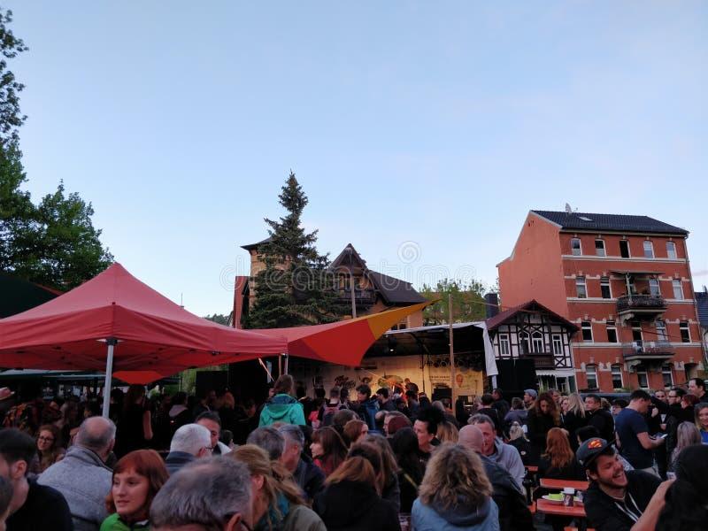 Tysk utomhus- festival royaltyfri foto