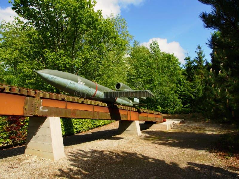 Tysk V 1 missil fotografering för bildbyråer