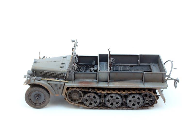 Tysk WWII-artilleritraktor Sd.Kfz.10 D7 royaltyfri foto