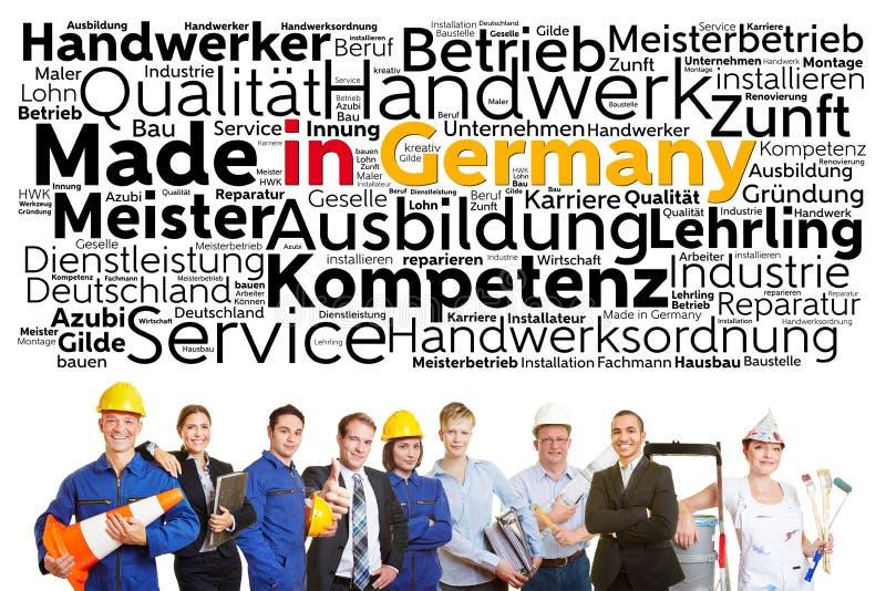 Tyska arbetare från olika yrken arkivbild