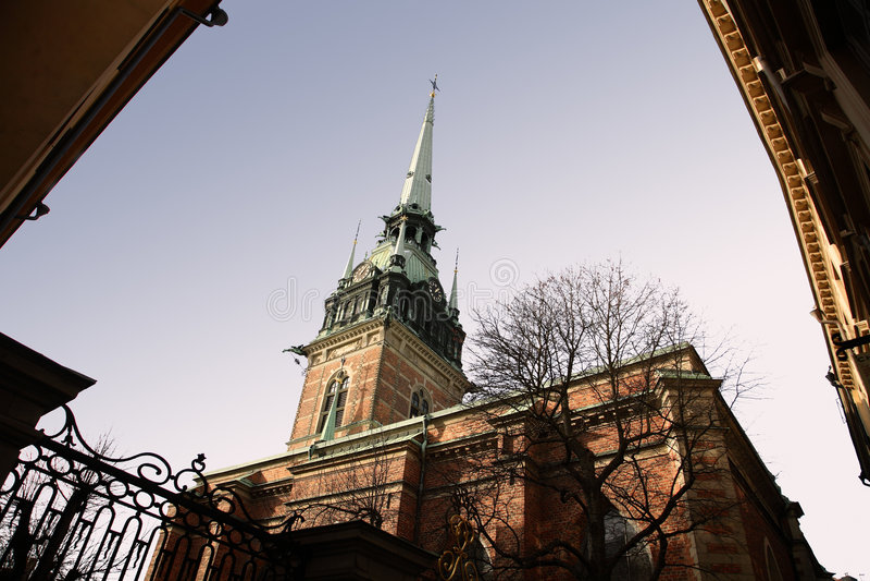 Tyska Estocolmo kyrkan imagenes de archivo