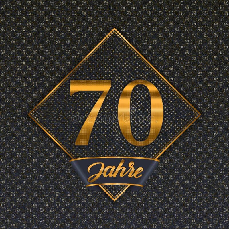 Tyska guld- mallar för nummer 70 royaltyfri illustrationer