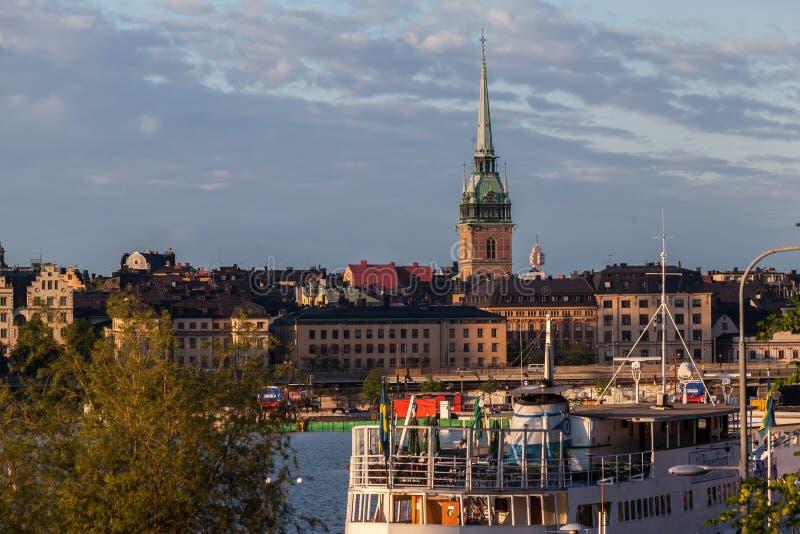 Tyska Kyrkan kyrka Stockholm Sverige fotografering för bildbyråer