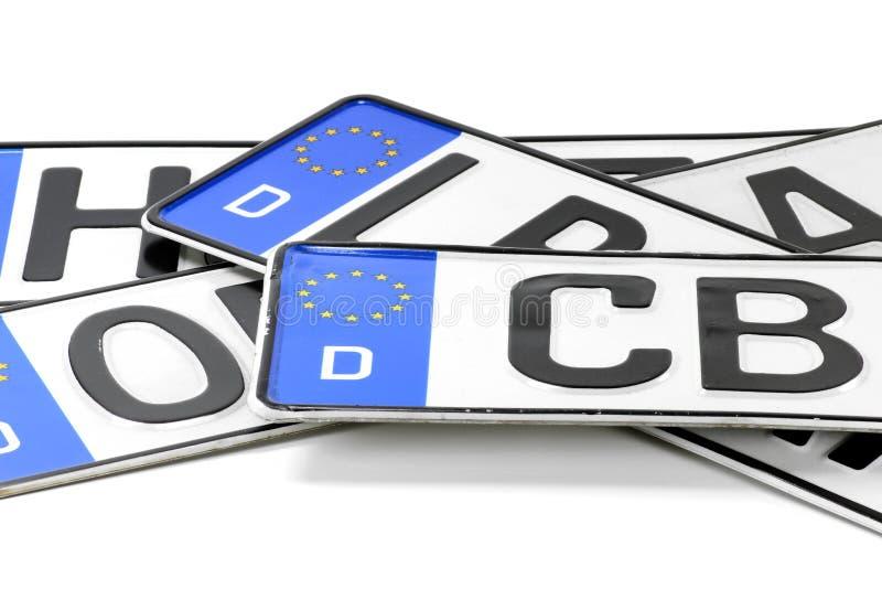 tyska registreringsskyltar arkivfoto