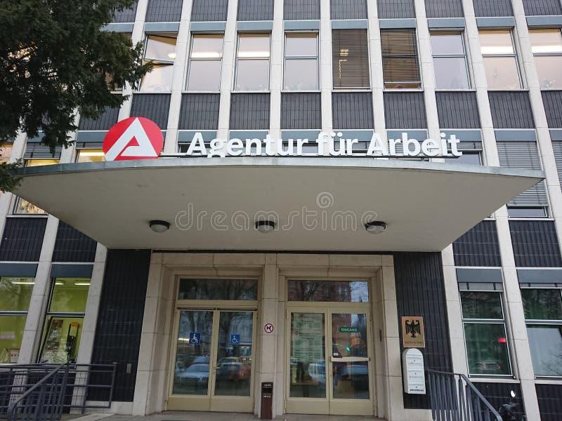 TyskAgentur päls Arbeit arkivbilder