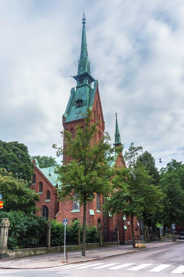 Tyskkyrka i Helsingfors, Finland royaltyfria bilder
