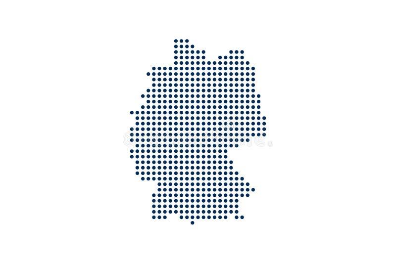 Tyskland Dot Map Digital begrepp f?r designeps f?r 10 bakgrund vektor f?r tech stock illustrationer