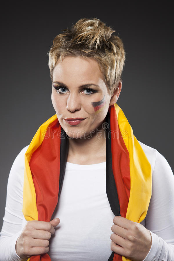 Tyskland för supporter för fotbollsportfan royaltyfria foton