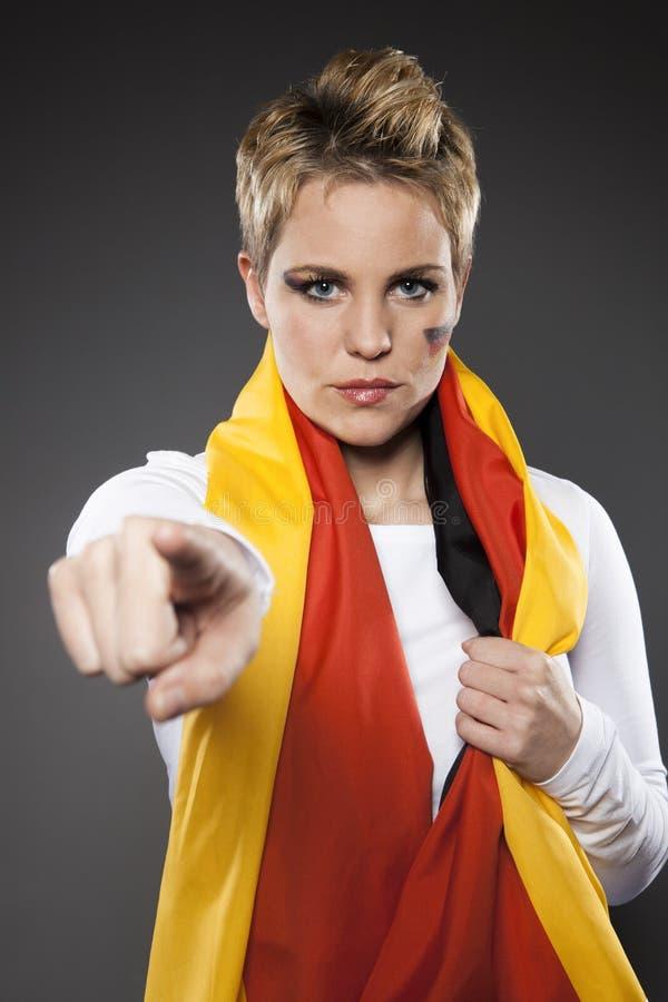 Tyskland för supporter för fotbollsportfan arkivfoto