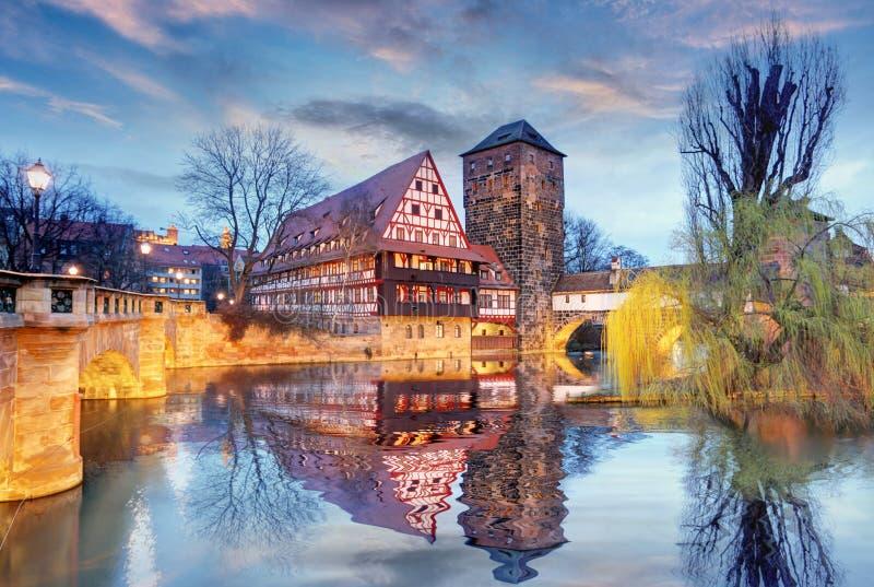 Tyskland - Nuremberg stad royaltyfri foto