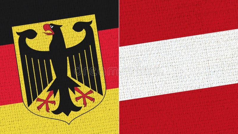 Tyskland och Österrike flagga royaltyfri foto