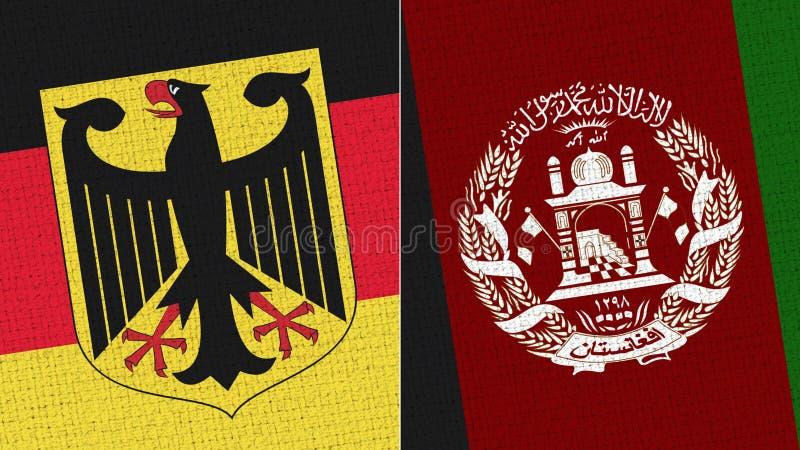 Tyskland och Afghanistan flagga arkivbilder