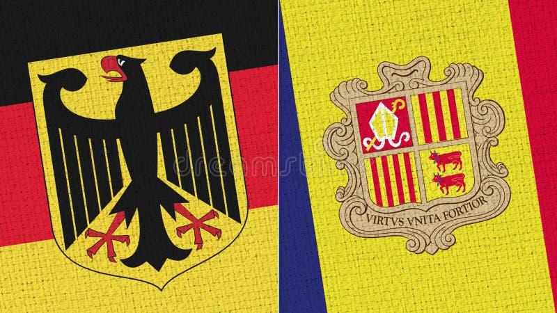 Tyskland och Andorra flagga arkivfoto
