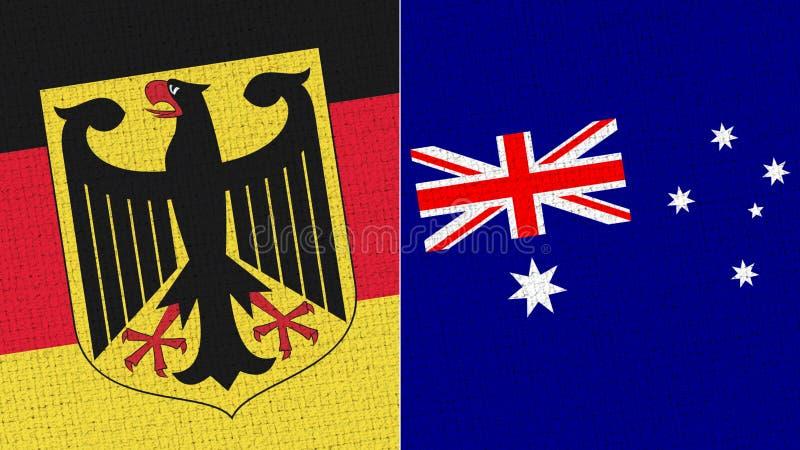 Tyskland och Australien flagga arkivfoton