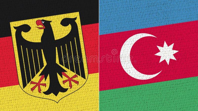 Tyskland och Azerbajdzjan flagga arkivfoto
