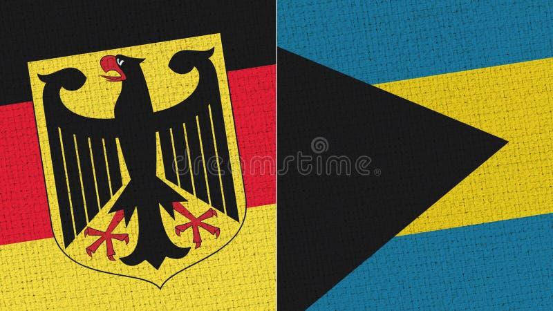 Tyskland och Bahamas flagga royaltyfri foto