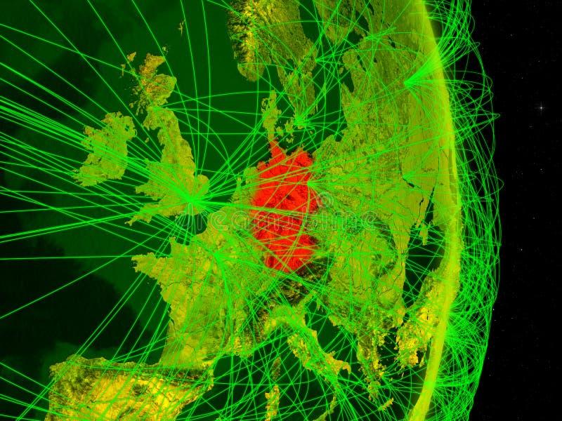 Tyskland på digital jord vektor illustrationer