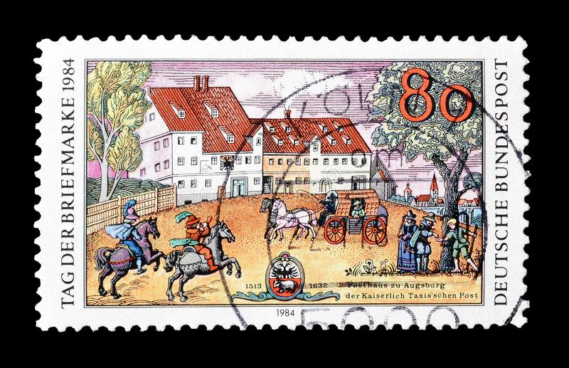 Tyskland p? portost?mplar royaltyfri fotografi