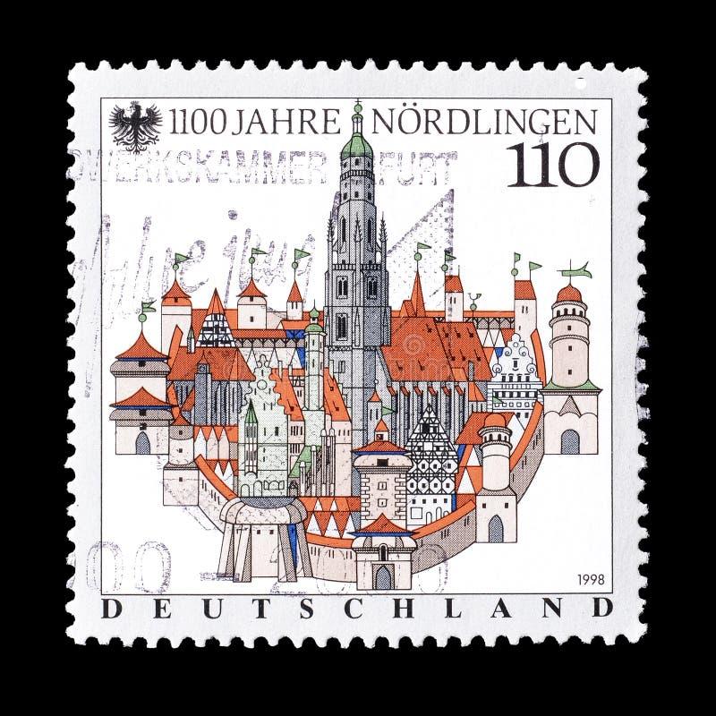 Tyskland p? portost?mplar royaltyfri bild