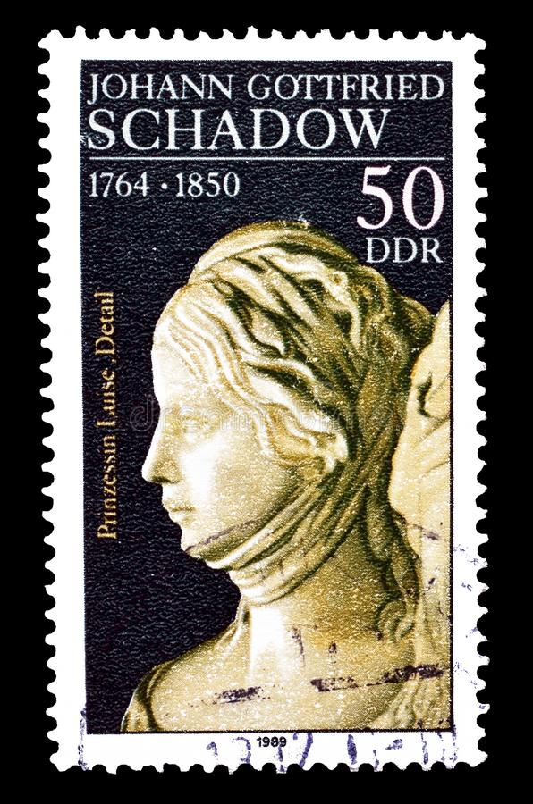 Tyskland p? portost?mplar royaltyfria bilder