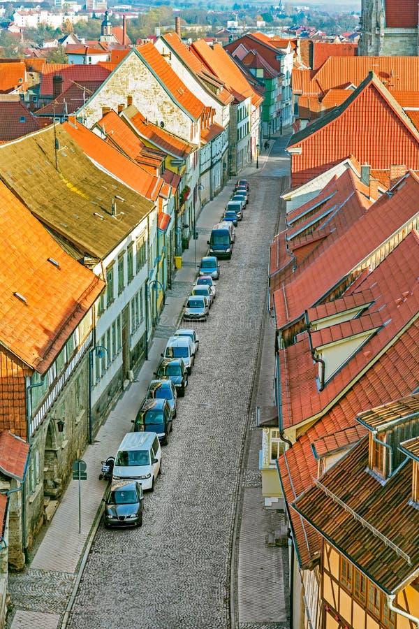 Tyskland Th?ringen, Muhlhausen, cityview arkivbilder