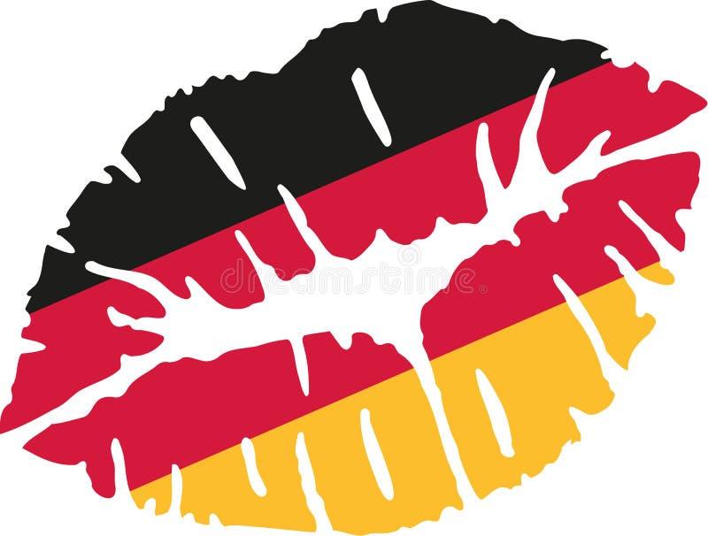 Tysklandflaggakyss stock illustrationer