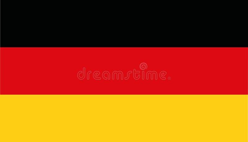 Tysklandflaggavektor vektor illustrationer