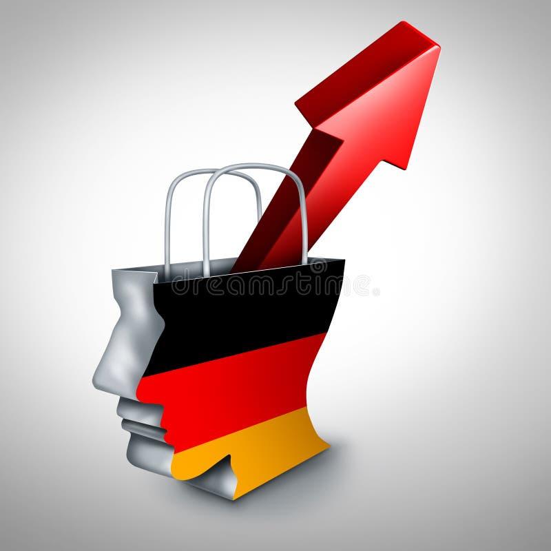 Tysklandinflation vektor illustrationer