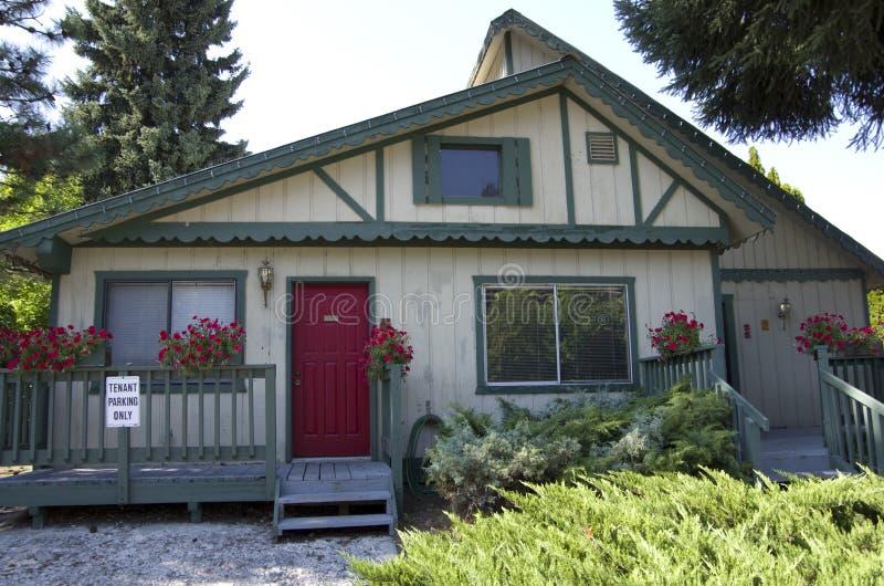 Tyskt hus Leavenworth arkivbild