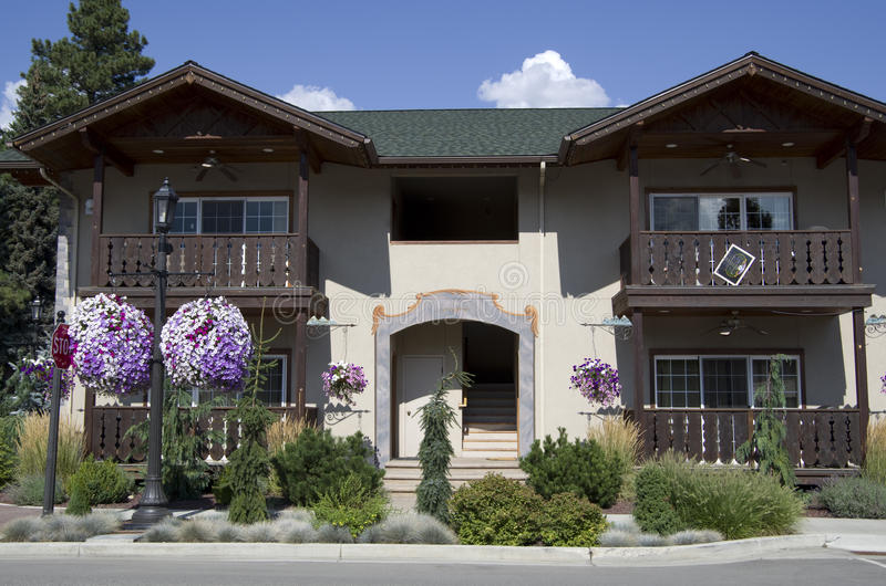 Tyskt hus Leavenworth royaltyfria foton