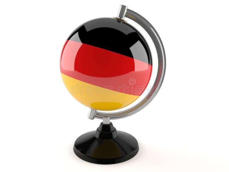 Tyskt jordklot royaltyfri illustrationer