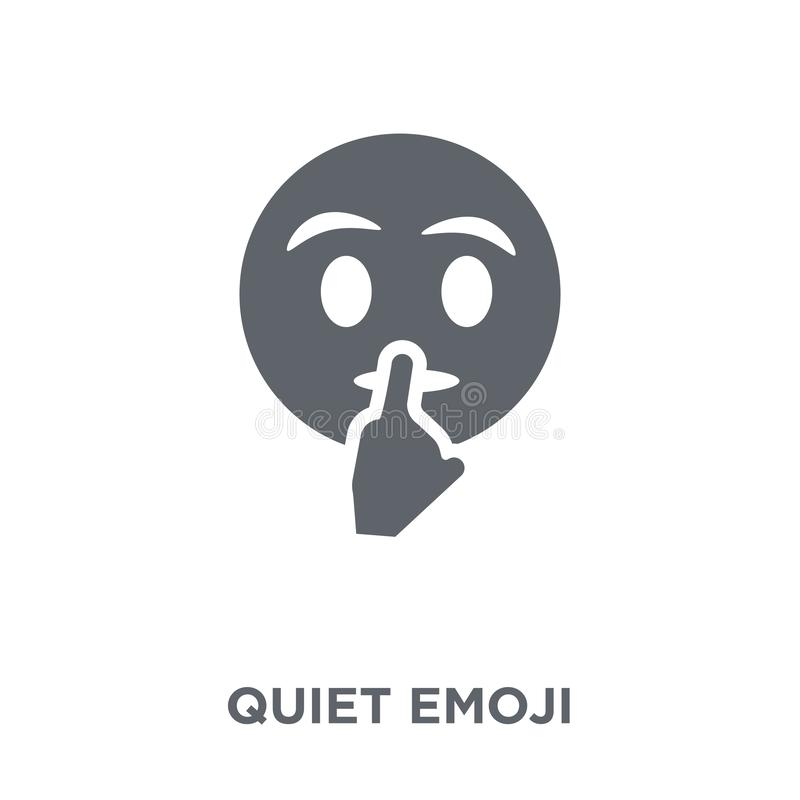 Tyst emojisymbol från den Emoji samlingen royaltyfri illustrationer