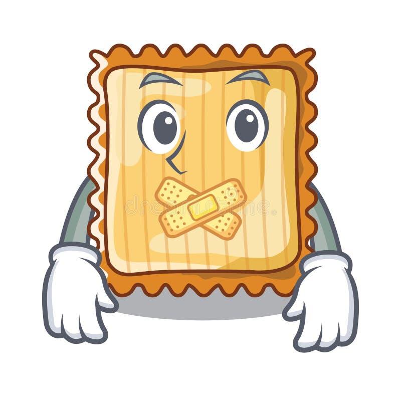 Tyst lasagne tjänas som i tecknad filmplattor stock illustrationer