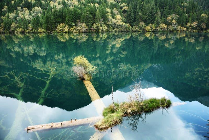 Tystnad klar sjö fotografering för bildbyråer