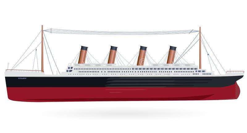 Tytanicznego †'legendarna łódź ilustracja wektor