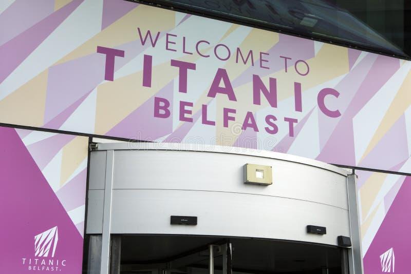 Tytaniczny Belfast muzeum obraz royalty free